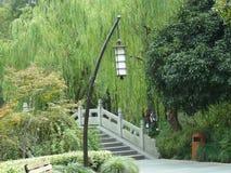 Mały most w zachodnim jeziorze Hangzhou Zdjęcie Stock