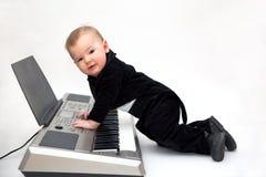 mały muzyk fotografia stock