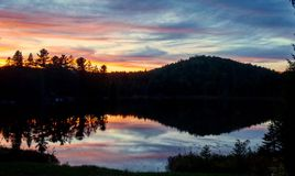 mały nad jezioro Zdjęcia Royalty Free