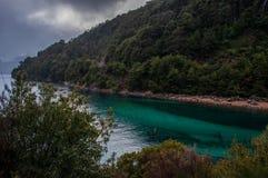 Mały obwód Chico blisko Bariloche lub Circuito, Argentyna Fotografia Stock