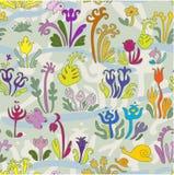 Mały ogród - bezszwowy wzór Zdjęcia Royalty Free