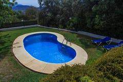 Mały ogrodowy basen Zdjęcia Royalty Free