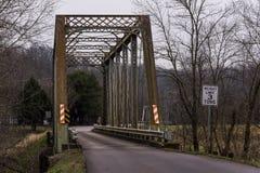Mały Piaskowaty rzeka most - Wschodnia Kentucky linia kolejowa, Kentucky obraz stock