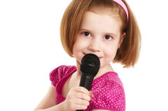 mały piosenkarz Obraz Stock