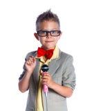 Mały piosenkarz i showman Fotografia Stock