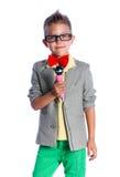 Mały piosenkarz i showman Fotografia Royalty Free