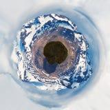 Mały planeta wizerunek Góry Obrazy Royalty Free