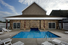 Mały plenerowy basen Zdjęcia Royalty Free