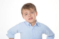 Mały ponury dzieciak Fotografia Royalty Free