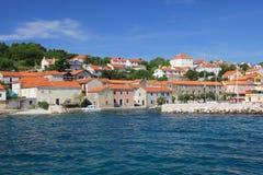 Mały portowy miasteczko na wakacje Obraz Royalty Free