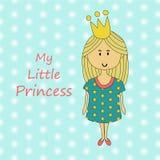 Mały princess dziecka charakter Obraz Royalty Free