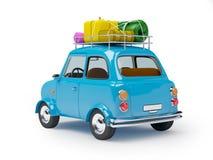 Mały samochodowy przygoda plecy Fotografia Royalty Free