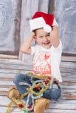 Mały Santa Obrazy Royalty Free