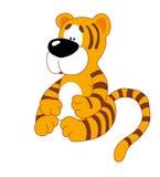 mały siedzi tygrys Zdjęcia Royalty Free