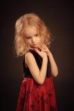 Mały smutny dziewczyna portret Zdjęcia Royalty Free