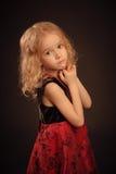 Mały spokojny dziewczyna portret Obrazy Royalty Free