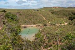 Mały staw w dalekiej lokaci Zdjęcie Royalty Free