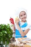 Mały szef kuchni kucharza taniec z Bell Pieprzem Zdjęcia Royalty Free