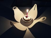 mały tort urodzinowy Obraz Stock