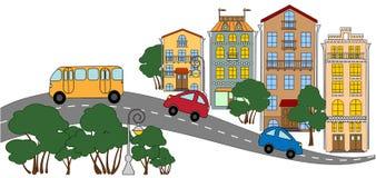mały uliczny miasteczko Zdjęcie Stock