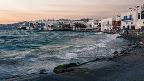 Mały Wenecja Mykonos Fotografia Stock
