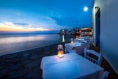 Mały Wenecja Mykonos, Grecja Fotografia Stock