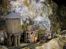 Mały wierza i parowa lokomotywa zdjęcia stock