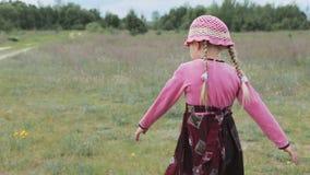 Małych dziewczynek sztuki na polu zbiory wideo