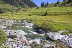 Mała zatoczka w Europejskich Alps Obraz Stock