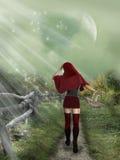 mała czerwona hood Zdjęcia Royalty Free