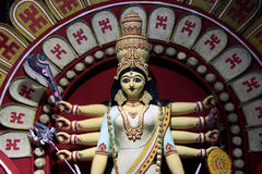 Maa Durga as a daughter of earth. Biggest festival in Bengal which is world famous Royalty Free Stock Photography