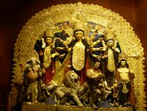 Maa durga in a pandal Royalty Free Stock Image