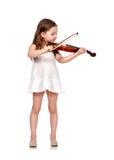 Mała dziewczynka z skrzypce Obrazy Royalty Free