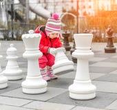 Mała śliczna dziewczyna przy pl Obraz Stock