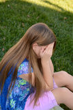 mała płacz dziewczyna Zdjęcia Stock