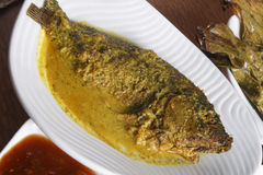Maacher jhol or light fish curry from bengal Stock Images