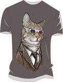 Maaf mohon sempurna belum coba coba masih lengan pendek Baju gambar kucing Стоковое фото RF