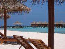 Maafushivaru island - Maldives. The small island of Maafushivaru in the Maldives royalty free stock images