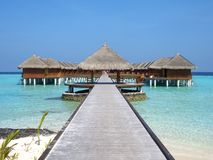 Maafushivaru island - Maldives. The small island of Maafushivaru in the Maldives Royalty Free Stock Photography