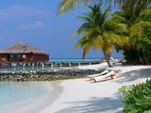 Maafushivaru island - Maldives. The small island of Maafushivaru in the Maldives Royalty Free Stock Photos