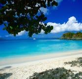 Maagdelijk eilanden Caraïbisch strand Stock Afbeeldingen