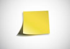 Maagdelijk geel document stock illustratie