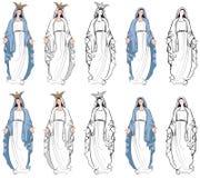 Maagdelijke Mary vector illustratie