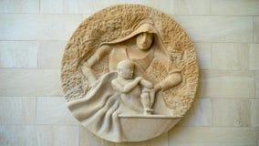Maagdelijke Mary en baby Jesus Royalty-vrije Stock Afbeeldingen