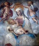 Maagdelijke Mary met baby Jesus Stock Foto's