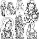Maagdelijke Mary Set royalty-vrije illustratie