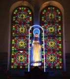 Maagdelijke Mary Statue Shrine Saigon Vietnam Royalty-vrije Stock Fotografie