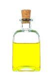 Maagdelijke olijfoliefles stock foto