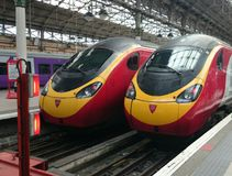 Maagdelijke treinen Royalty-vrije Stock Foto's