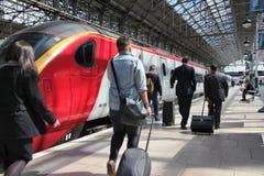 Maagdelijke treinen stock fotografie